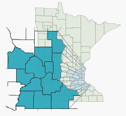 Map of the Archdiocese of St. Paul and Minneapolis