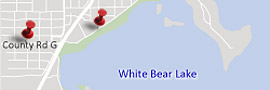 Map of White Bear Lake